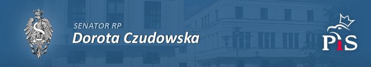 Logo Senatu RP, Senator RP Dorota Czudowska, Logo Prawa i Sprawiedliwości